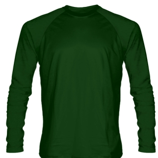 Dark Green Long Sleeve Soccer Jerseys