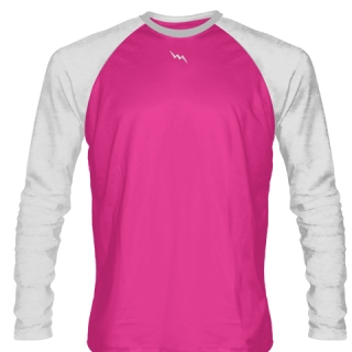 Fluorescent Pink Long Sleeve Soccer Uniforms