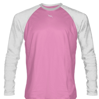 Light Pink Long Sleeve Soccer Jerseys