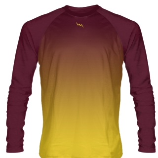Maroon Long Sleeve Soccer Jerseys