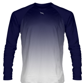 Navy Blue Long Sleeve Soccer Jersey