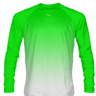 Neon Green Long Sleeve Soccer Jersey