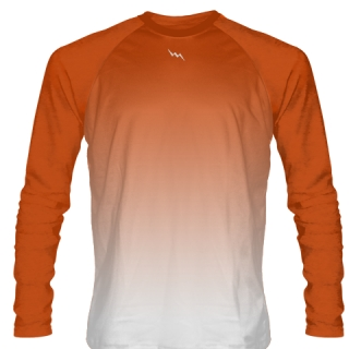 Orange Long Sleeve Soccer Jersey