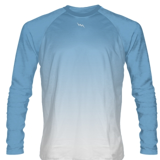 Columbia Blue Long Sleeve Soccer Jersey