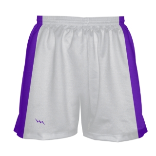 Womens White Lacrosse Shorts