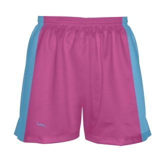 Girls Fluorescent Pink Lacrosse Shorts