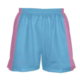 Girls Light Blue Lacrosse Shorts