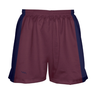 Girls Maroon Lacrosse Shorts