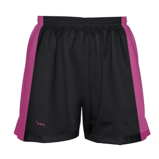 Girls Black and Pink Lacrosse Shorts