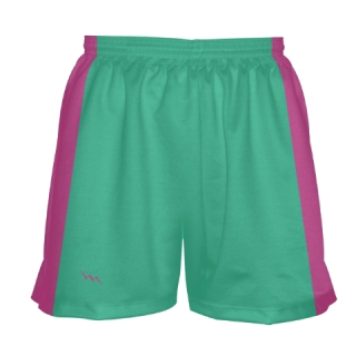 Teal and Pink Girls Lacrosse Shorts