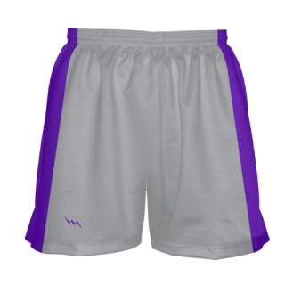 Girls Silver Lacrosse Shorts
