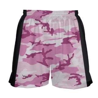 Girls Pink Camouflage Lacrosse Shorts