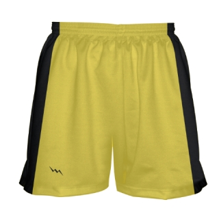 Girls Yellow Lacrosse Shorts