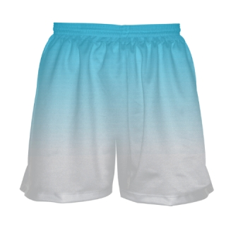 Girls Light Blue Fade Lacrosse Shorts