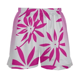 Girls Pink Hawaiian Lacrosse Shorts