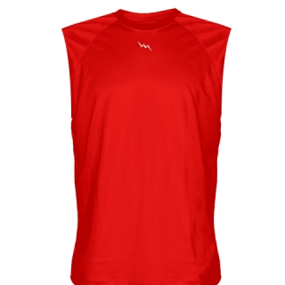 Red Football Sleeveless Practice Shirts