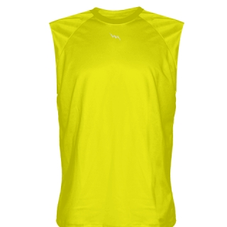 Yellow Sleeveless Football Practice Shirts