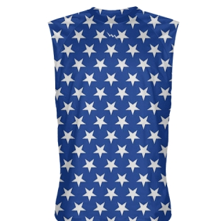 Blue Stars Sleeveless Shirts