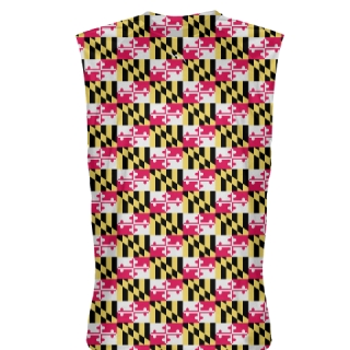 Maryland Flag Sleeveless Shirts