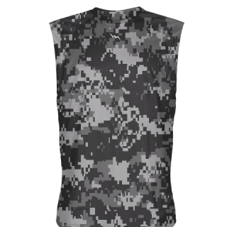 Digital Camouflage Sleeveless Shirts