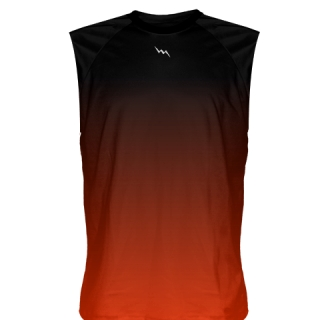 Red Black Fade Sleeveless Shirts