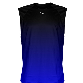 Black Blue Fade Sleeveless Shirts