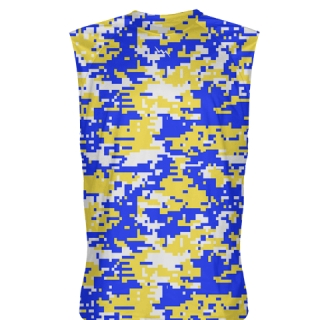 Blue Yellow Sleeveless Shirts
