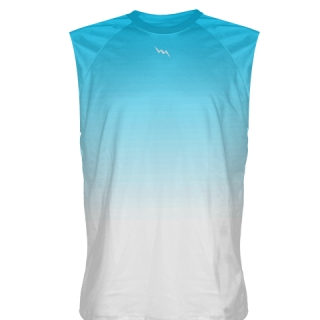 Light Blue Fade Sleeveless Shirts