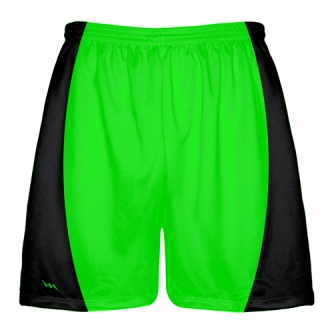 Neon Green Football Shorts