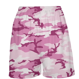 Pink Camouflage Basketball Shorts