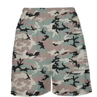 Green Camouflage Basketball Shorts