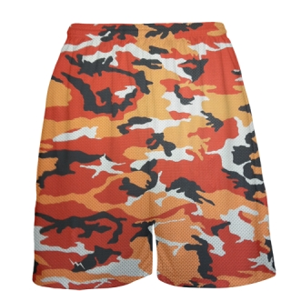 Orange Camouflage Basketball Shorts