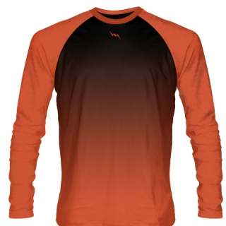 Orange Long Sleeve Basketball Shirts