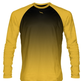 Athletic Gold Long Sleeve Basketball Shirts