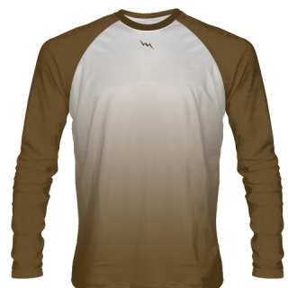 Brown Long Sleeve Basketball Shirts