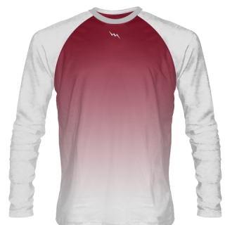Cardinal Red Long Sleeve Basketball Shirts
