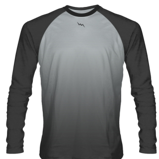 Charcoal Grey Long Sleeve Basketball Shooting Shirts