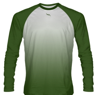 Dark Green Long Sleeve Basketball Shirts