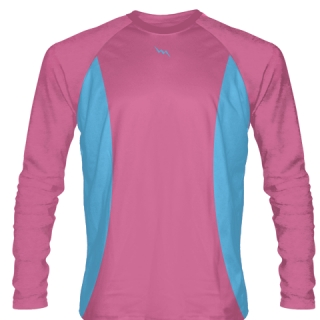 Hot Pink Long Sleeve Basketball Shirts Warmup