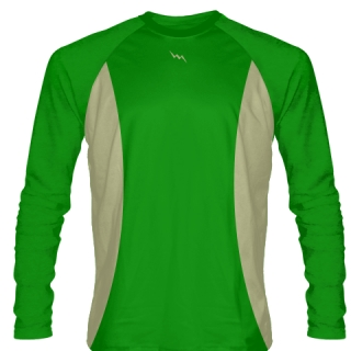 Kelly Green Long Sleeve Basketball Shirts