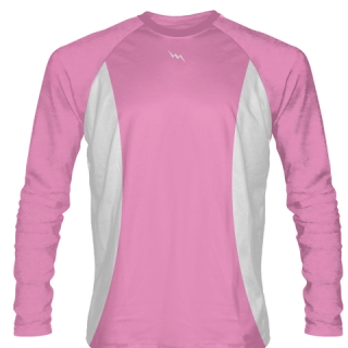 Light Pink Basketball Shooter Shirts Long Sleeve