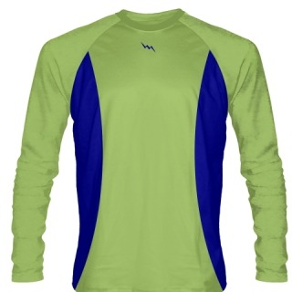 Lime Green Long Sleeve Basketball Shooter Shirts