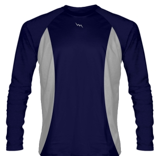 Navy Blue Long Sleeve Shooter Shirts Basketball