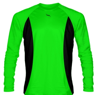 Navy Green Long Sleeve Shooter Shirts Basketball
