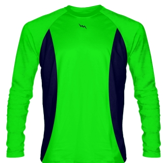 Neon Green Long Sleeve Basketball Shooter Shirts