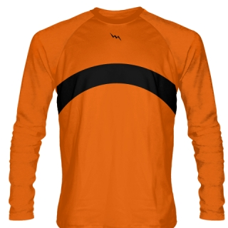 Orange Long Sleeve Shooter Shirts Basketball