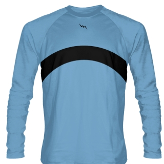 Powder Blue Long Sleeve Shooter Shirts Basketball