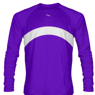 Purple Long Sleeve Basketball Shooter Shirts