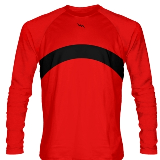 Red Long Sleeve Basketball Shooter Shirts