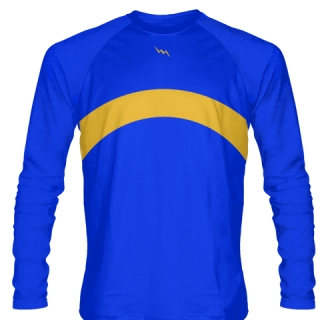 Royal Blue Long Sleeve Basketball Shooter Shirts